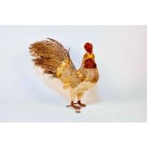 """Rooster Nat. Grass/Petal/Brn Grass Tail 12"""""""
