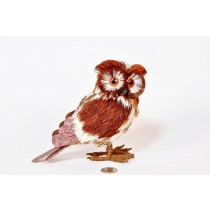 Owl Brn/Wht Jute Spotted Standing 6""