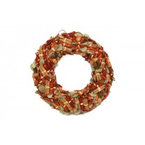 Wreath Red Pepper/Cinamon/Leaf 13""