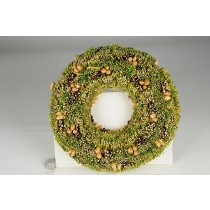 Wreath Green Twig w/Pod 10.75""