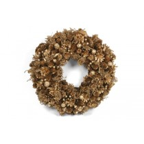 Wreath Gold Cone/Berry/Grass 15""
