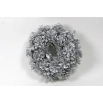 """Wreath Silver Cone/Berry/Grass 9.5"""""""