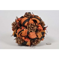 Ball Orange/Black Leaf/Cone/Berry 6.5""