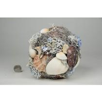 Ball Nat. Seashell w/Net/Wht Twig 6""