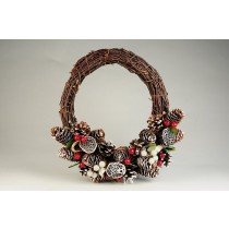 Wreath Brown Twig/Cone/Pod/Berry 11""