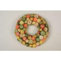 Wreath Multi-Color Thristle Diasy 8""
