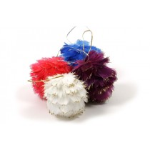 Ball Multi-Color Feather Asst*6 3""