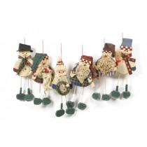 """Santa/Snowman Country w/Hanger Asst*6 8"""""""