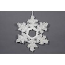 """Snowflake White Yarn w/Hanger 14"""""""
