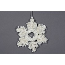 Snowflake White Yarn 7""