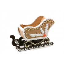 Sleigh Gingerbread Container 7""