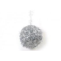 Ball Silver Tinsel 5.5""