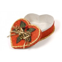 "Heart Box w/Décor 6.5"""