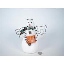 Snowman w/Angel Wing 6.5""