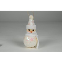 Snowman w/Sequin Hat & Body/Hanger 4""