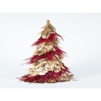 Tree Gold/Red Feather 19""