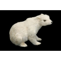 Polar Bear White Jute Sitting 6""