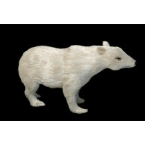 Polar Bear White Jute Standing 7""
