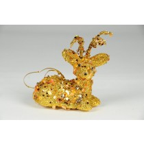 Deer Gold w/Sequin w/Hanger 4""