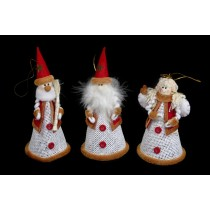"Santa/Snowman/Angel Cone w/Hanger 6"""