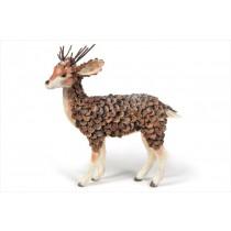"""Deer Brown Cone Chip w/Snow 15"""""""