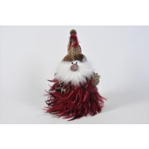 Santa Red Feather 12""