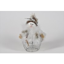 Snowman Container White 8""