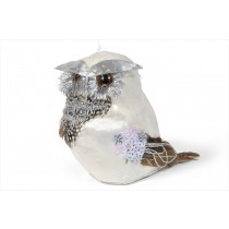 Owl White/Silver Sequin 5.5""