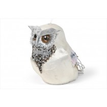 Owl White/Silver Sequin 4""