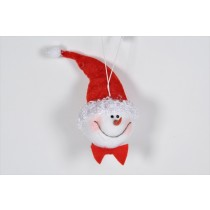 Snowman Head w/Red Hat 6""