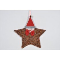 Star Brown Cone Chip w/Santa Head 11""