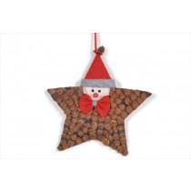 Star Brown Cone Chip w/Santa Head 8""