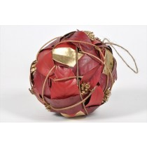 Ball Red/Gold Leaf/Cone/Twig 5.5""