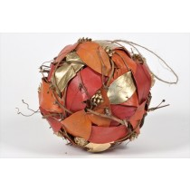 Ball Orange/Gold Leaf/Cone/Twig 5.5""