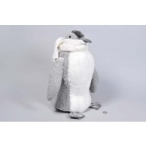 Penguin Grey w/Scarf/Snow 15""
