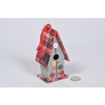 Birdhouse A-Shape Cloth w/Button 5""