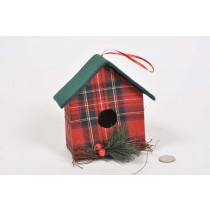 Birdhouse A-Shape Cloth w/Pine/Berry 6""