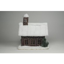 "House Snow Bean Pod w/3 Windows 9""x8""x10""H"