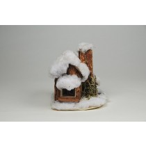 "House Snow Nat. Wood 5""x4""x6""H"
