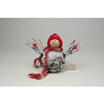 Snowman BrownTwigs w/Snow/Red Knits 6""