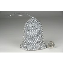 """Bell Silver Diamond Stud w/Hanger 5"""""""