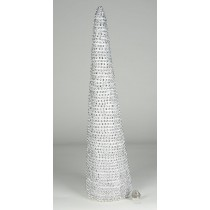 Tree Cone Silver Diamond Stud 18""