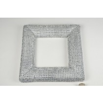 Wreath Square Silver Diamond Stud 10''
