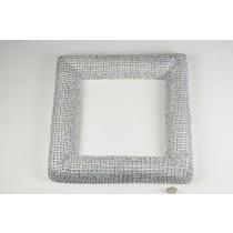 Wreath Square Silver Diamond Stud 13''