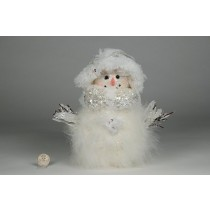Snowman w/White Feather/Sequin 9""
