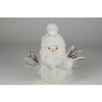 Snowman w/White Feather/Pearl 7""