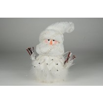 Snowman w/White Feather/Diamond 10""