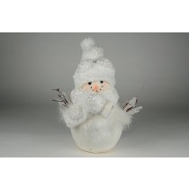Snowman w/White Feather/Sequin 12.5""