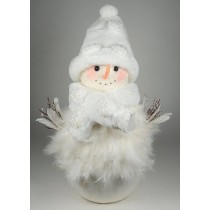 Snowman w/White Feather/Sequin 21""