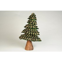 Tree Green/Brn Half Cones 12""